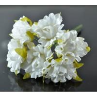 ЦВ250-2/6 Цветочек тканевый 6шт Ф3см белый