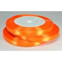 08А07-54 Лента атласная 7мм 10шт апельсиновая 23м