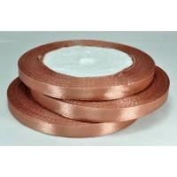 А07-55 Лента атласная 7мм 10шт шоколадная 23м