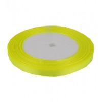 03А07-25 Лента атласная 7мм 10шт ультра-желтый