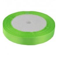 02А12-29 Лента атласная 1,2см 10шт ультра-зеленый