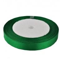 02А12-41 Лента атласная 1,2см 10шт т.зеленая