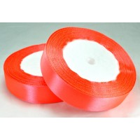06А20-53 Лента атласная 2см 10шт оранжево-розовая 23м 23