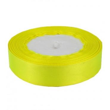02А20-1 Лента атласная 2см 10шт ультра-желтая