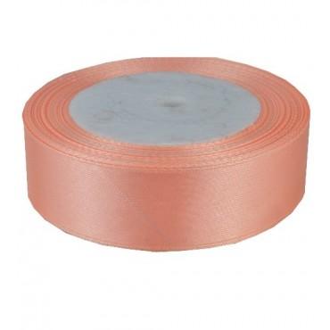 04А25-4 Лента атласная 2,5см 5шт персиковая