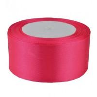 02А38-2 Лента атласная 3,8см 5шт ультра-розовая