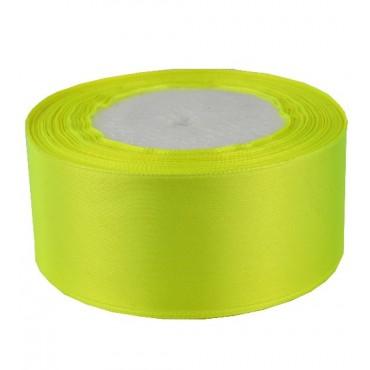 04А38-32 Лента атласная 3,8см 5шт ультра-желтый