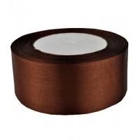 08А38-35 Лента атласная 3,8см 5шт темно-коричневая