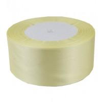 04А38-4 Лента атласная 3,8см 5шт светло-желтая