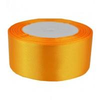 04А38-5 Лента атласная 3,8см 5шт ярко-желтая