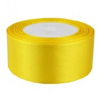 04А38-7 Лента атласная 3,8см 5шт желтая