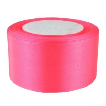 03А48-30 Лента атласная 4,8см 4шт ярко-розовая