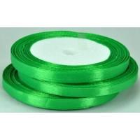 02А07-20 Лента атласная 7мм 10шт зеленая 23м