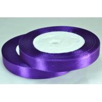 07А12-54 Лента атласная 1,2см 10шт т.-фиолетовая