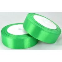 03А25-3 Лента атласная 2,5см  5шт зеленая