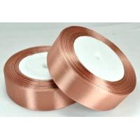 10А25-55 Лента атласная 2,5см 5шт шоколадная