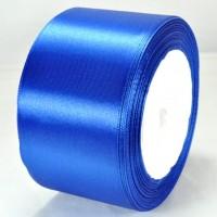 07А48-37 Лента атласная 4,8см 4шт синяя