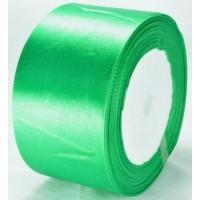 04А48-6 Лента атласная 4,8см 4шт зеленая