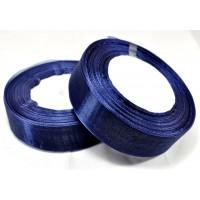 Ш25-13 Лента органза 2,5см т.синяя 45м