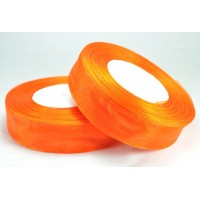 Ш25-9 Лента органза 2,5см оранжевая 45м