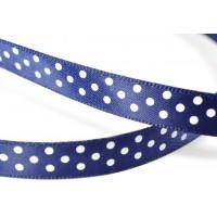 ЛП а09-1 синий горох атлас  ширина 9мм 10м