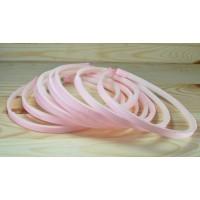 З0З-5 Заготовка обруч 10шт пластик+репс св-розовый