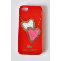 Ч5986-10-1 Чехол для iphone5. Красный с двигающимися камнями 6х12,5см
