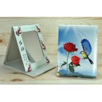 4639 Зеркало карманное Книжечка колибри