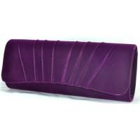 Арт 8213-4 Клатч фиолетовый бархатный 26х10,5х5,5см