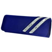 Арт 8281-2 Клатч синий бархатный 26х10,5х5см