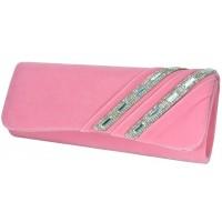 Арт 8281-3 Клатч розовый бархатный 26х10,5х5см