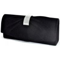 Арт 8284-2 Клатч черный бархатный 25х10,5х5,5см