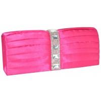 Арт 8286-3 Клатч розовый атласный 24х9,5х5см