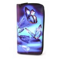Кошелек 162-3 бабочки 10х19х2,5см