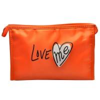 Арт 6031-5 Косметичка оранжевая Love 22х15х7см