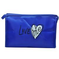 Арт 6031-6 Косметичка синяя Love 22х15х7см