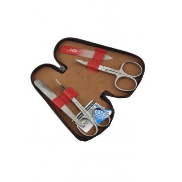 04-7101-2 КДС набор маникюрный вишневый