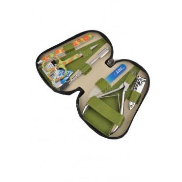 04-8103-3 КДС набор маникюрный Color оливковый