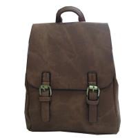 Арт 9027-1 Рюкзак коричневый 34х29,5х12см