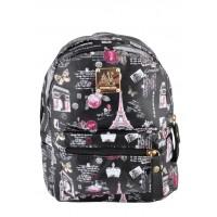 Арт 9032-8 Рюкзак черный 21,5х27х11см