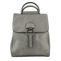 Арт 9048-1 Рюкзак-сумка серая 30х25х11см