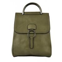 Арт 9048-3  Рюкзак-сумка оливковая 30х25х11см