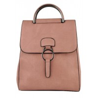 Арт 9048-4  Рюкзак-сумка пудровая 30х25х11см