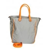 Сумка Серая с оранжевым 30х36х14,5 см Арт 9023-2