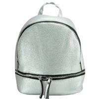 Арт 9029-1 Рюкзак серебро 21,5х19,5х11см