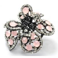К4900-4 Краб длина 4,5см с розовыми камнями