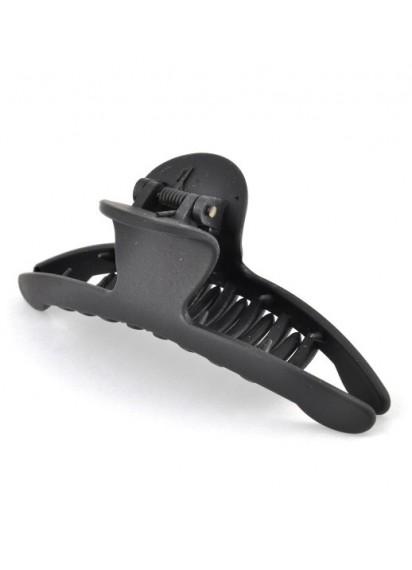 крабик для волос пластиковый черный 9,5см