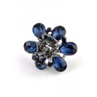 К1725-4 Краб с синими камнями длина 2,5см