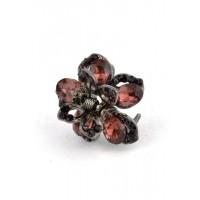 К1725-5-1 Краб с гранатовыми камнями длина 2,5см
