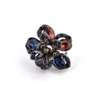 К1725-5-3 Краб с разноцветными камнями длина 2,5см